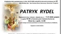 Zmarł Patryk Rydel. Żył 22 lata.