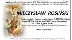 Zmarł Mieczysław Rosiński. Żył 85 lat.
