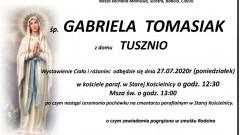 Zmarła Gabriela Tomasiak. Żyła 74 lata.