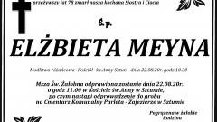Zmarła Elżbieta Meyna. Żyła 78 lat.