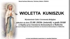 Zmarła Wioletta Kuniszuk. Żyła 51 lat.