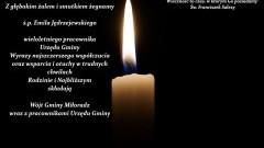 Wójt Gminy Miłoradz wraz z pracownikami Urzędu Gminy składają kondolencje.