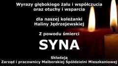 Zarząd i pracownicy Malborskiej Spółdzielni Mieszkaniowej składają kondolencje.