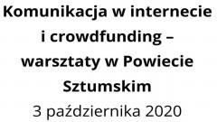 Zapisz się na bezpłatne warsztaty z social mediów i crowdfundingu w Sztumie.
