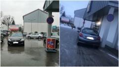 Mistrz (nie tylko) parkowania na de Gaulle'a w Malborku.