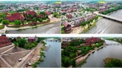 Malbork. Trwa budowa bulwaru nad Nogatem. Zobacz najnowsze wideo z drona - 21 maja 2021