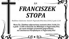 Zmarł Franciszek Stopa. Żył 69 lat.