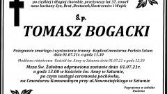 Zmarł Tomasz Bogacki. Żył 37 lat.