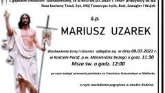 Zmarł Mariusz Uzarek. Żył 52 lata.