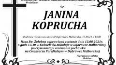 Zmarła Janina Koprucha. Żyła 98 lat.