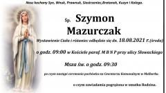 Zmarł Szymon Mazurczak. Miał 18 lat.