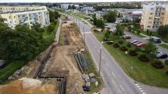Malbork. Modernizacja i remont sieci ciepłowniczej na Osiedlu Południe, jak długo potrwa? Zobacz nagranie z drona