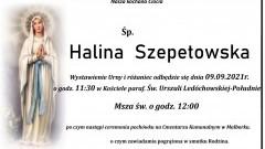 Zmarła Halina Szepetowska. Żyła 76 lat.