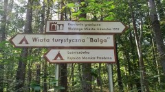 Słupy graniczne Wolnego Miasta Gdańska przy Przekopie Mierzei Wiślanej – Przebrno.