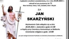Zmarł Jan Skarżyński. Żył 71 lat.