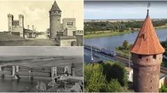 Baszta Maślankowa w Malborku z lotu ptaka