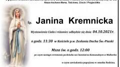 Zmarła Janina Kremnicka. Żyła 90 lat.