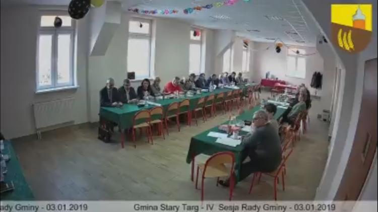 IV sesja Rady Gminy Stary Targ. Zobacz na żywo