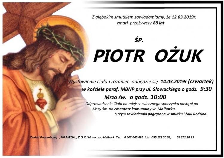 Zmarł Piotr Ożuk. Żył 88 lat.