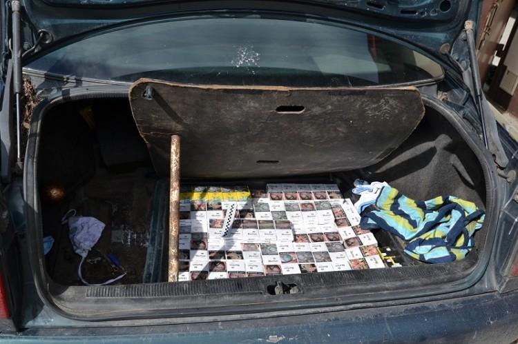 Tablice z innego powiatu nie pomogły. Straż graniczna udaremniła przemyt papierosów
