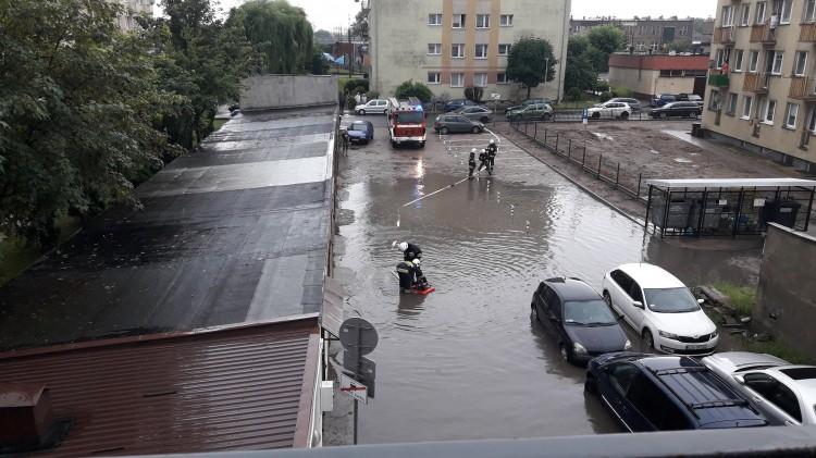 Dramatyczne skutki burzy nad Malborkiem.