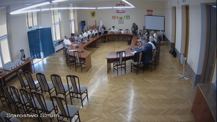 IX sesja nadzwyczajna Rady Powiatu Sztumskiego na żywo.