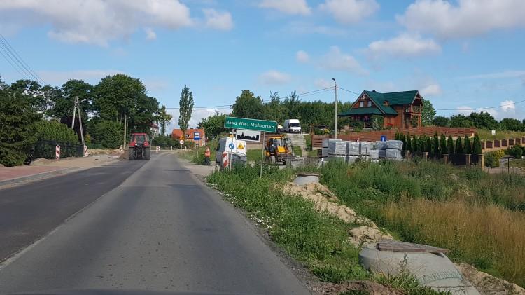 W przyszłym tygodniu pojedziemy nowym asfaltem przez Nową Wieś Malborską.