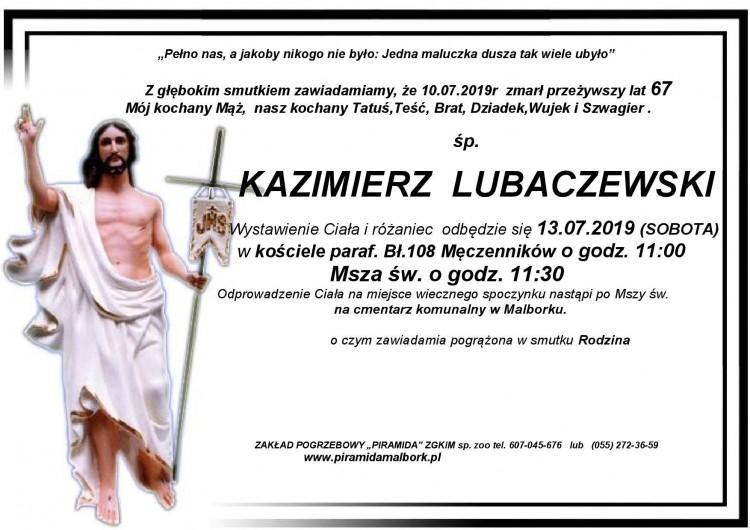 Zmarł Kazimierz Lubaczewski. Żył 67 lat.