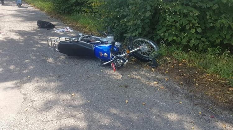 Zderzenie motocykla z osobówką w gminie Dzierzgoń.