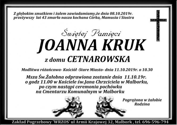 Zmarła Joanna Kruk. Żyła 43 lata